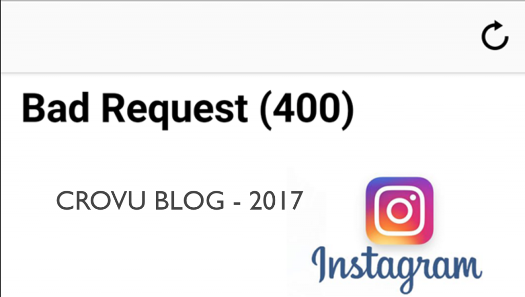 Instagram Bad Request 400 Hatasi Cozumu